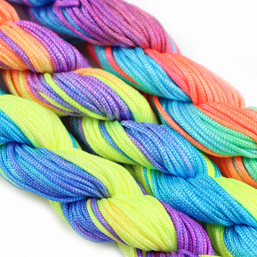 JHNBY 1 ミリメートルサテン Rattail ビーズナイロン中国編組ロープコードスレッド String Diy のネックレスブレスレットジュエリーメイキング検索