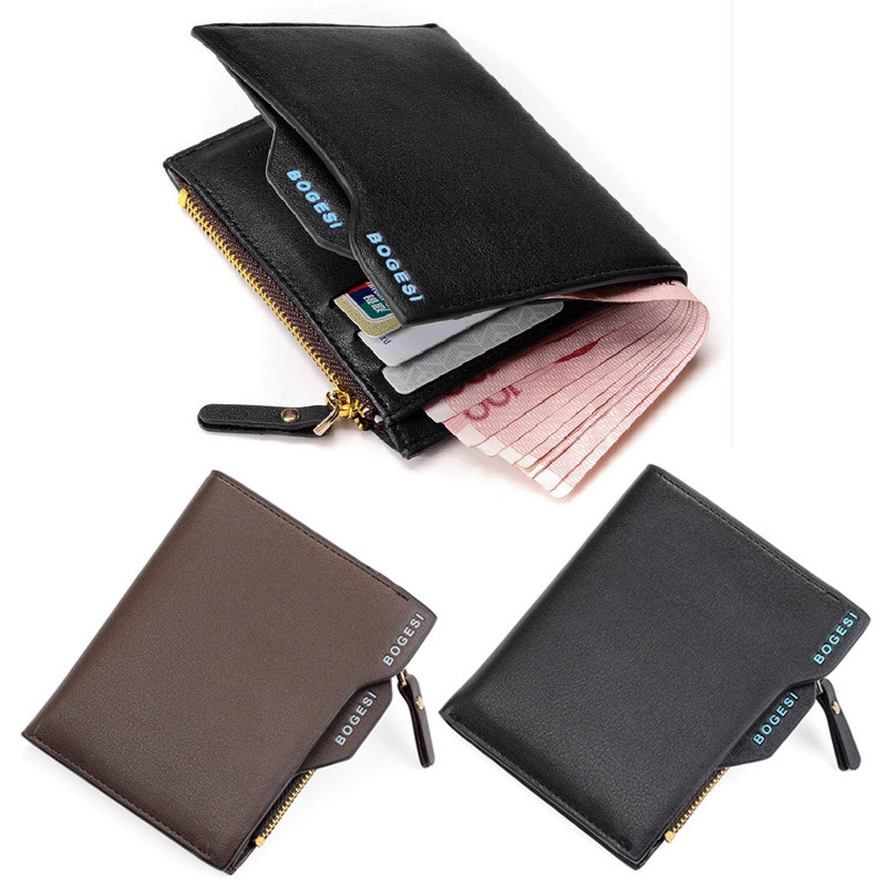 Aelicy traveling Men PU Leather Slim Wallet Casual Business Credit Card ID Holder Money Card Holder Purse purse organizer 2018