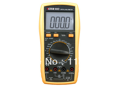VC88D HIGH QUALITY Digital Multimeter,Full function protection, anti-high voltage circuit design,Backlight,lager LCD  vc201vc202vc203 pocket digital multimeter full protection of digital multimeter