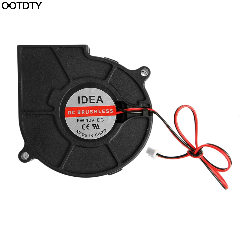 75mmx30mm DC 12V 0.24A 2-Pin Computer PC Sleeve-Bearing Blower Cooling Fan 7530 50mmx15mm dc 12v 0 14a 2 pin computer pc sleeve bearing blower cooling fan 5015 r179t drop shipping