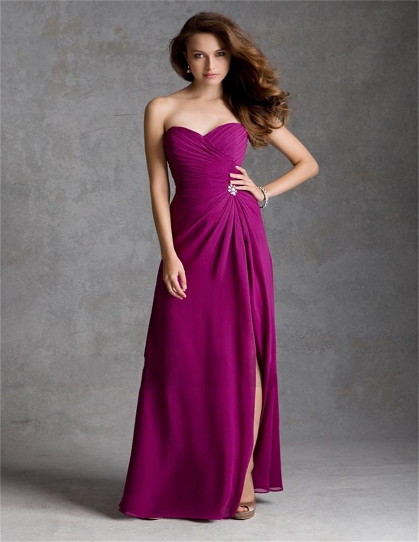 Popular fuschia bridesmaid dresses buy cheap fuschia for Fuschia wedding dresses