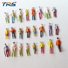 Teraysun 500 шт архитектурные 1: 75 масштабные фигуры модель Пассажирские Люди окрашены для модель расположения поезда