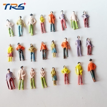 Teraysun wholesale 500PCS  Architectural 1:75 Scale Model Figures Passenger People painted for model train layout