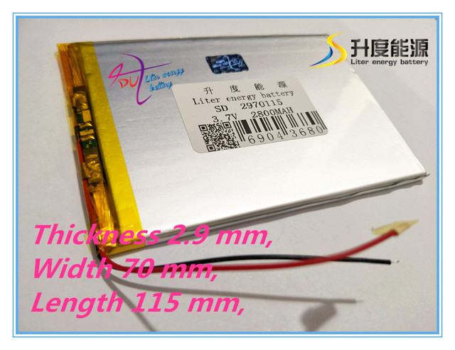 best battery brand  3.7 V 2800 mah tablet battery brand tablet general polymer lithium battery 2970115
