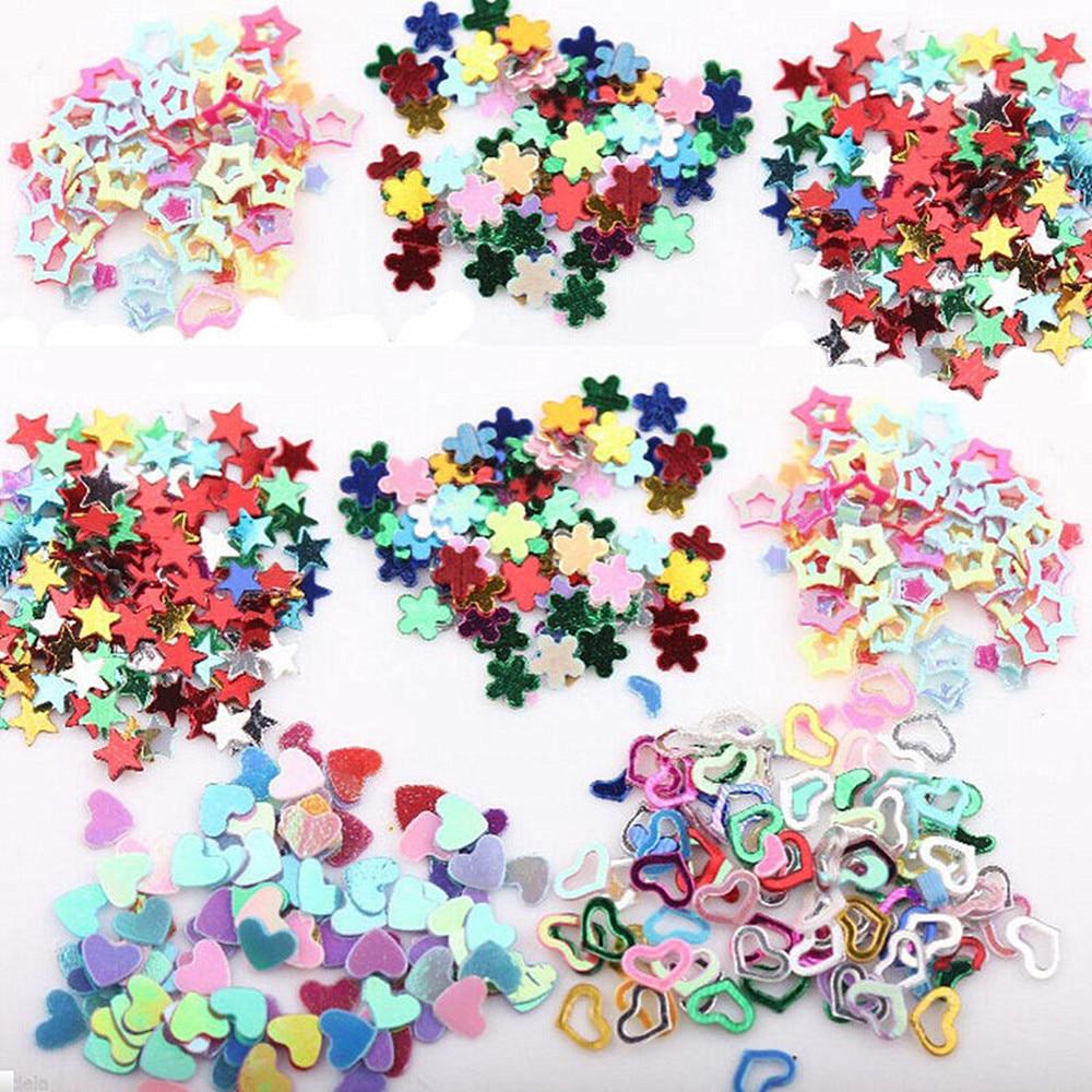 5000Pcs Mixed Nail Glitter Heart Star Flower Sequins Nail ...