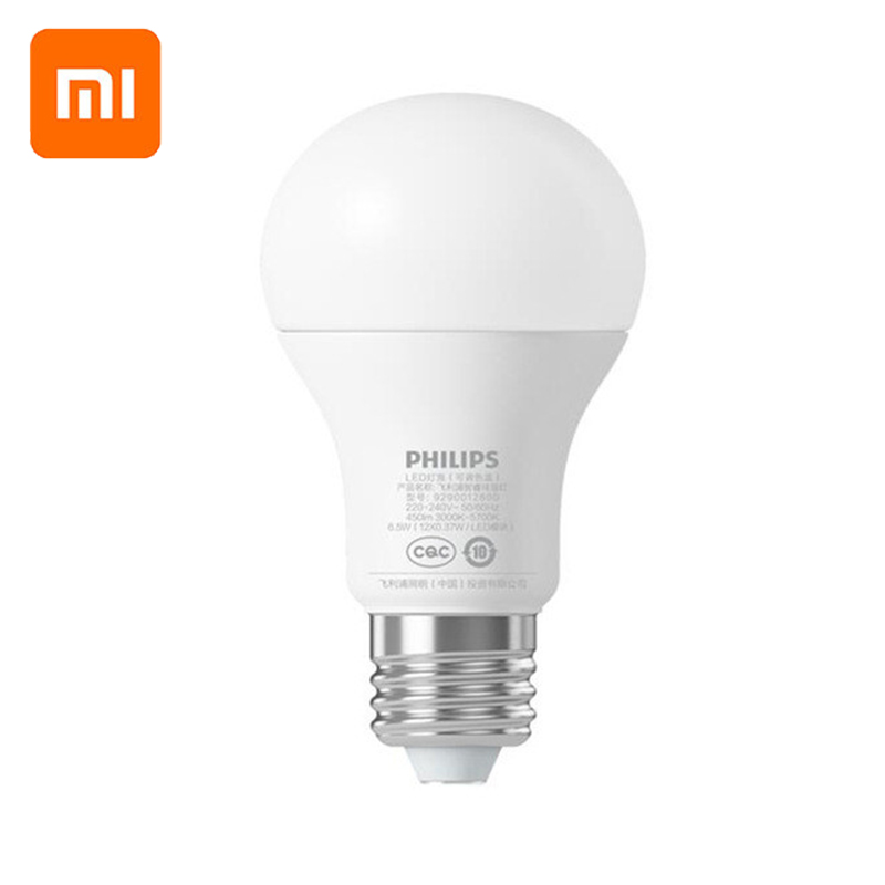 Original X Mi Smart LED Bulb Wifi Remote Control Adjustable Brightness Eyecare Light   WHITE COLOR
