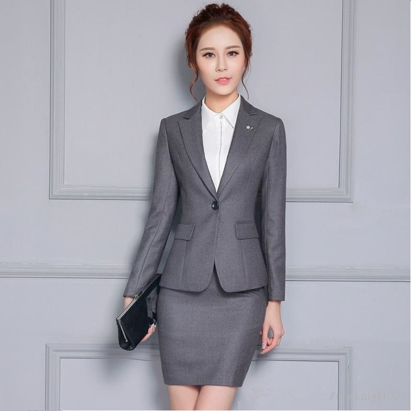 Suits & Sets Novelty Blue Slim Fashion Professional Female Uniform Style Business Work Suits With Tops And Pants Ladies Office Trousers Sets To Assure Years Of Trouble-Free Service Pant Suits