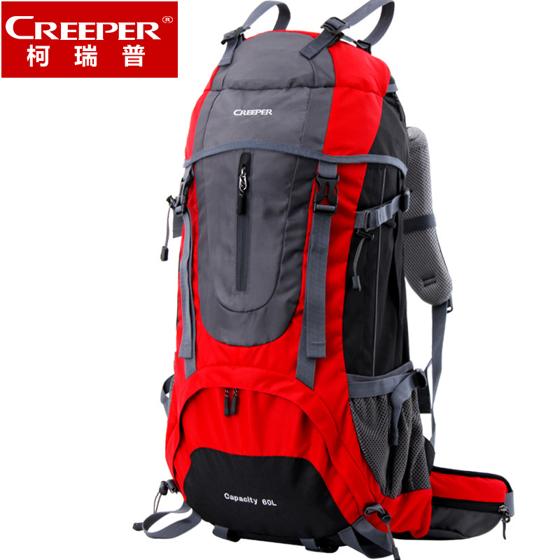 Creeper Outdoor Sport Bag Camping Hiking Backpack Travel Daypacks Rain Cover Bag 60L rucksack sac a dos randonnee rugzak