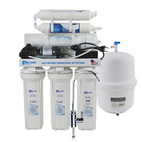 6 Stage Under Sink Reverse Osmosis Drinking Water Filtration System With Alkaline Remineralization Filter 75GPD