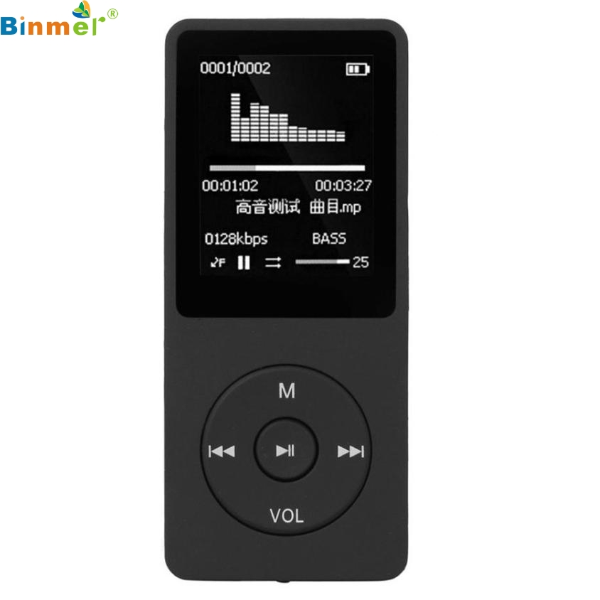 Best price MP3 Player 1 8 TF Black 8G MP3 HiFi Lossless Sound Music Player FM