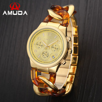Amudaผู้หญิงอัลลอยด์ดูกับปฏิทินแบรนด์หรูสุภาพสตรีลำลองควอตซ์นาฬิกาผู้หญิงสาวนาฬิกาข้อมือm...