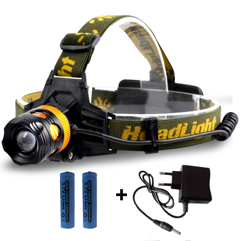 Professional Dual light sources Led Headlight Blue & White or Yellow & White Light Headlamp 18650 Head Light for Fishing Camping ultrafire u 01 800lm 3 mode white light led bike light headlamp silver blue 4 x 18650