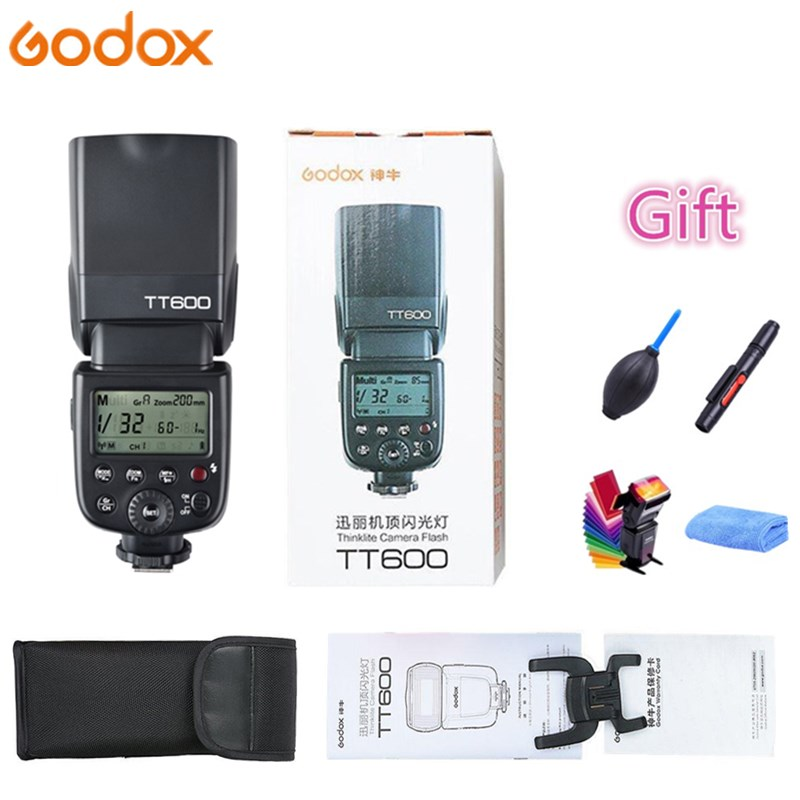 Godox TT600 TT600s Camera Flash Speedlite 2.4G Wireless GN60 Master Slave for Canon Nikon Sony Pentax Olympus Fujifilm Cameras цена