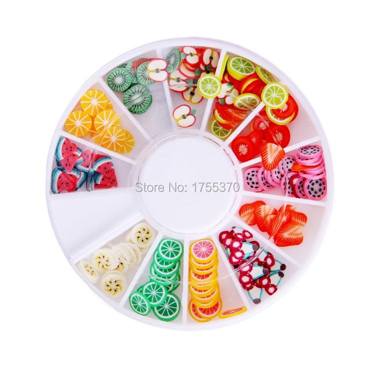 DIY Nail Art Decorations Fruit Slices 3D Polymer Clay Tiny Fimo Wheel Nail Art Rhinestones Acrylic Decoration Manicure комплект одежды для девочек brand new baby kds003