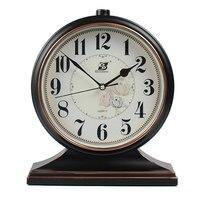 CLassic 12Inch Desktop Clock Europe Antique Art Silent Table Clock for Bedroom Lliving Room Home Decoration