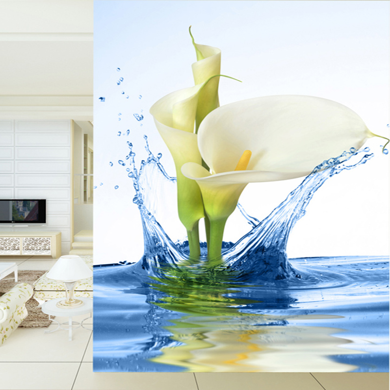 Customized 3D Wall Mural Wallpapers Landscape Daffodils Into The Water Living Room Entrance Modern Minimalist Photo Wallpaper