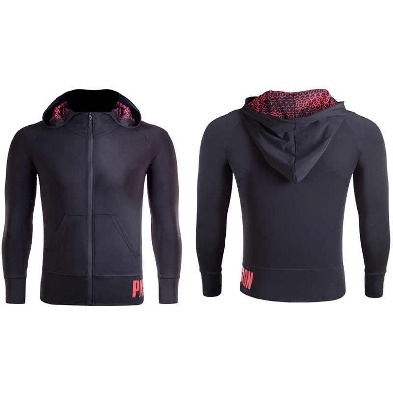 2019 новый для женщин девушка спортивная Йога Бег молнии куртки тренажерный зал костюмы для фитнеса Спортивное пальто с длинным рукавом Толстовка