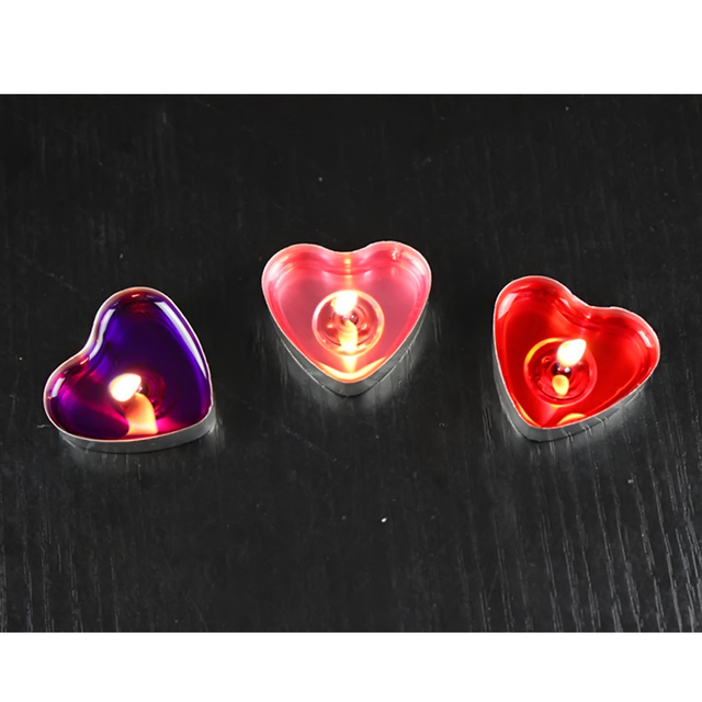 50 Pcs Heart Shaped Candles