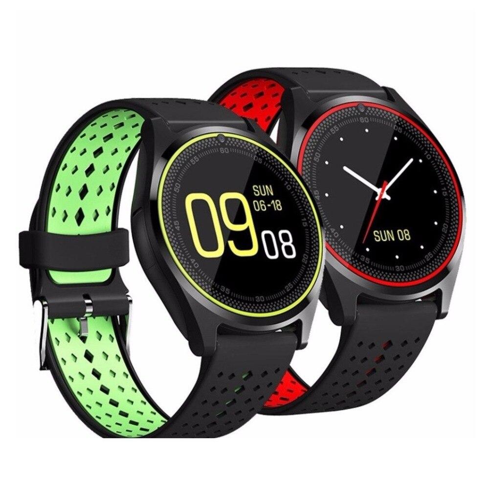 696 bluetooth relógio inteligente v9 esportes relógio pedômetro com sim tf smartwatch para android smartphone rússia pk dz09 gt08 a1