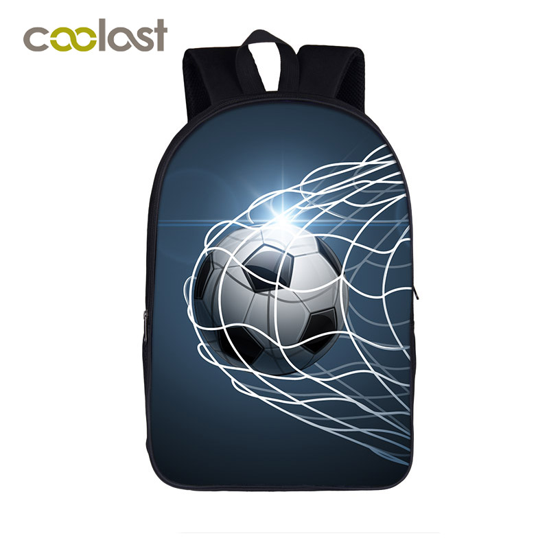 Cool Glowing Foot Ball Students Backpack For Teenage Boy Children School Bag Fire Foot Ball Book Backpack For Teenager And Adult ...