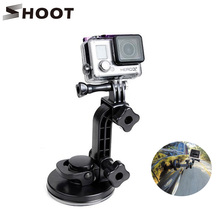 SHOOT Windshield Triple Suction Cup Car Holder Adapter Mount For GoPro HERO 5 4 3 SJCAM h9 Xiaomi Yi 4K Action Camera Accessory