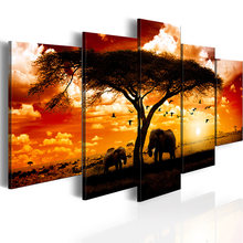 5 pieces/set Animal elephant poster Picture Print Painting On Canvas Wall Art Home Decor Living Room Canvas Art(China)