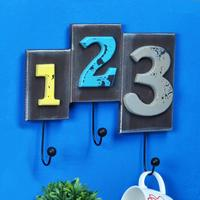 Wall Decor Hook American Vintage Wooden Letter Decorative Hooks Multi purpose Wall Coat Keys Bags Clothes Hook Bar Cup Holder