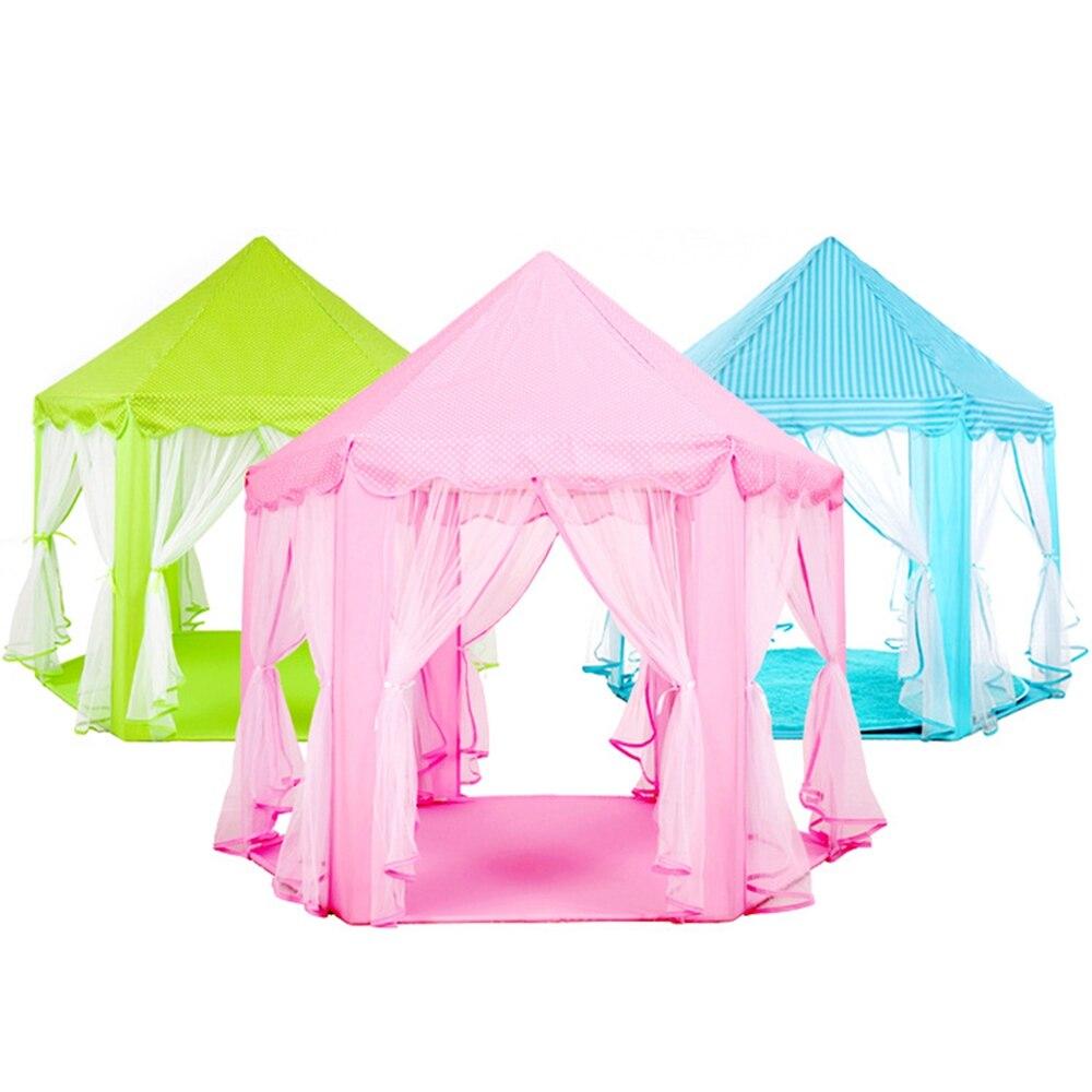 Portable Children Kids Play Tents Outdoor Garden Folding Toy Tent Pop Up Kids Girl Princess Castle