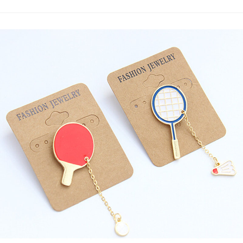 Motion charm badminton brooches Table tennis pins pendant badge decorated pins badge cartoon cute brooches for men and women