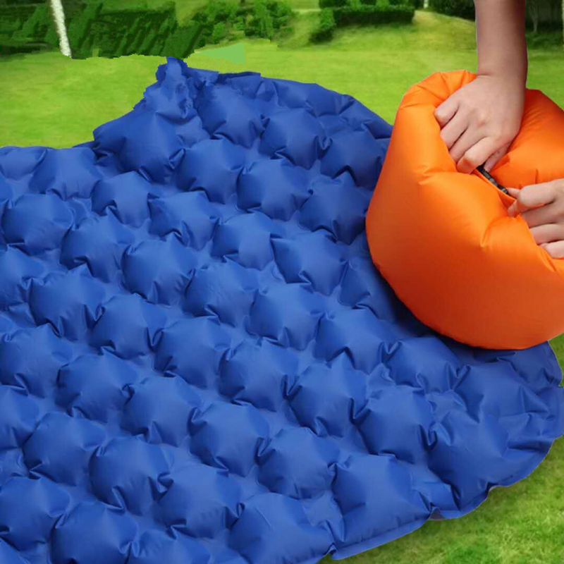Image 4 - VILEAD Ultralight Portable Air Mattress Inflatable Cushion Sleeping Pad  for Camping Hiking Backpacking Self Travel 190*57 cm-in Air Mattresses from Sports & Entertainment