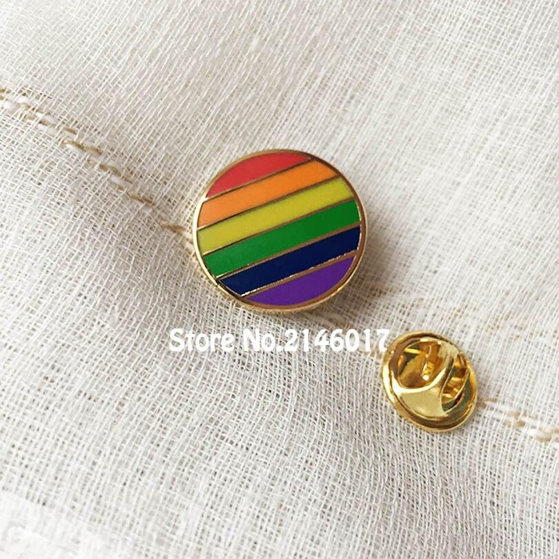 100pcs Custom Make Hard Enamel Pins and Brooch Wholesale Rainbow Cute Gay Pride LES Lesbian Lapel