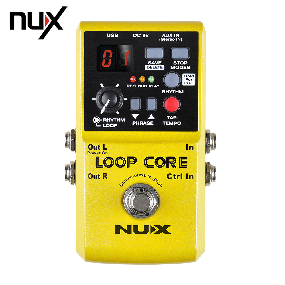 NUX Loop Core Violao Guitar Electric Effect Pedal 6 Hours Recording Time Built-in Drum Patterns Musical Instrument Parts nux octave loop guitar pedal looper 5 minutes recording time electric bass built in octave effect accessories