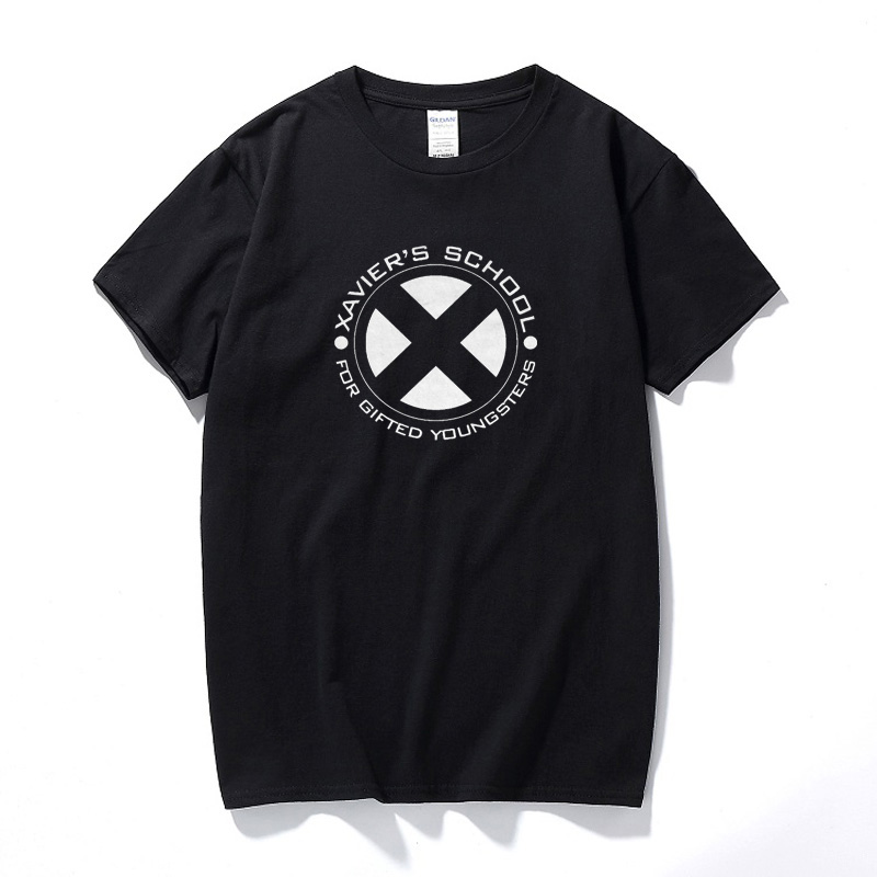 Xavier's School T-Shirt X-Men Wolverine Comic Deadpool Hugh Jackman Kult Film Unisex Cotton Short Sleeves T shirt Streetwear Top image