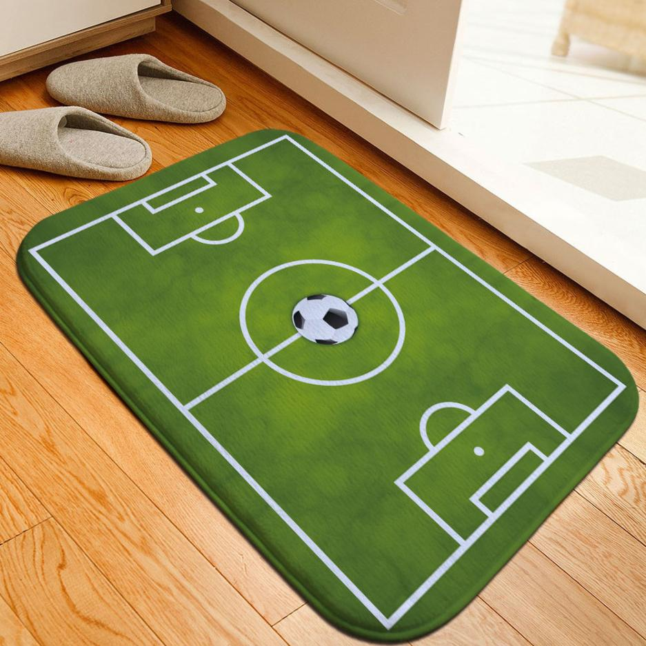 ISHOWTIENDA Football Venue Pad Wear-Resistant Dust-Absorbing Non-Slip Mats Carpets Bathroom supplies 0502