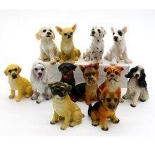 ФОТО 12PCS Miniature Fairy Figurines Garden Ornament Decoration Chihuahua Shar Pei Dalmatian Dog Animal Fairy Garden Decoration s
