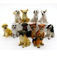 12pcs Miniature Fairy Garden Ornament Decoration Micro Landscape Dog Figurines Dollhouse Resin Decoration For Mini Garden Decor