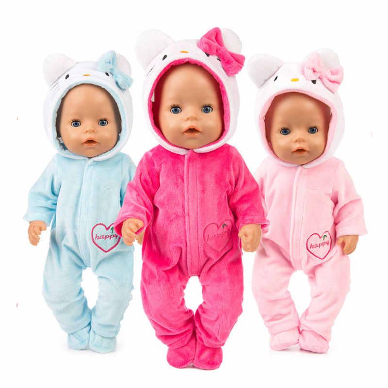 Кукла для маленьких девочек комплект одежды 2 шт./компл. костюм + Обувь Одежда для кукол для 43 см для ухода за ребенком для мам, родившиеся жакет для куклы толстовка с единорогом комплект Новогодний костюм Одежда для кукол