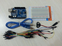 Starter Kit For Arduino Uno R3 Bundle Of 5 Items Uno R3 Breadboard Jumper Wires USB
