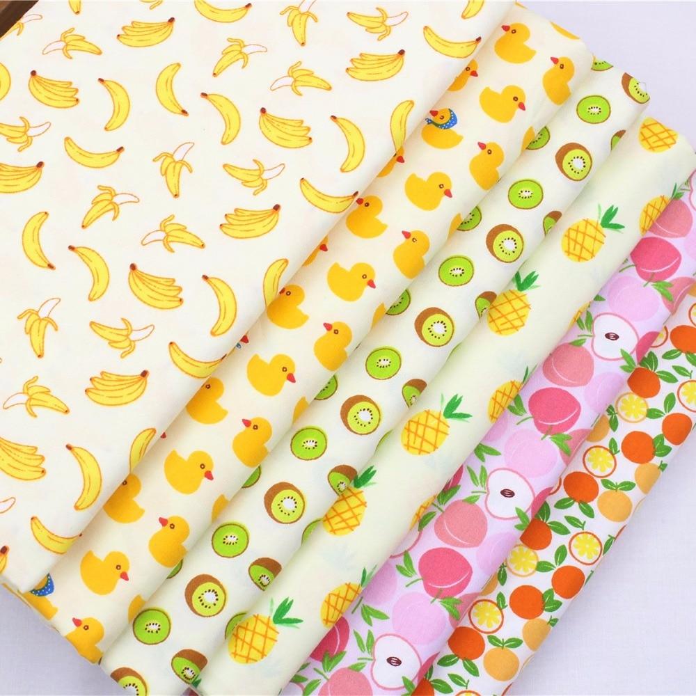 161029Y116 ، عرض 1.6 متر سلسلة الفاكهة رايون القطن النسيج ، الأطفال يحبون نمط diy اليدوية خليط القماش المنسوجات المنزلية
