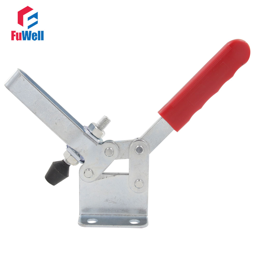 Metal Toggle Clamp Horizontal GH-200-WL 400KG Hold Capacity Quick Release Hand Tool Toggle Clamp Latch gh 12130 227kg capacity hand tool toggle clamp metal flanged base straight handle toggle clamping latch