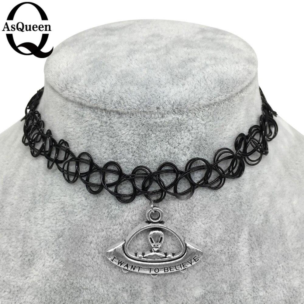 12styles tattoo chokers necklace fashion yin yang cross tree of life necklace women jewelry wholesale christmas gift