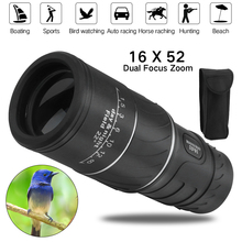 BORUiT 16 x 52 Dual Focus Monocular Spotting Telescope Zoom Optic Lens Binoculars Coating Lenses Hunting Optic Scope 8x21 hd optical monocular telescope adjustable zoom optic lens binoculars spotting scope coating lenses dual focus day vision