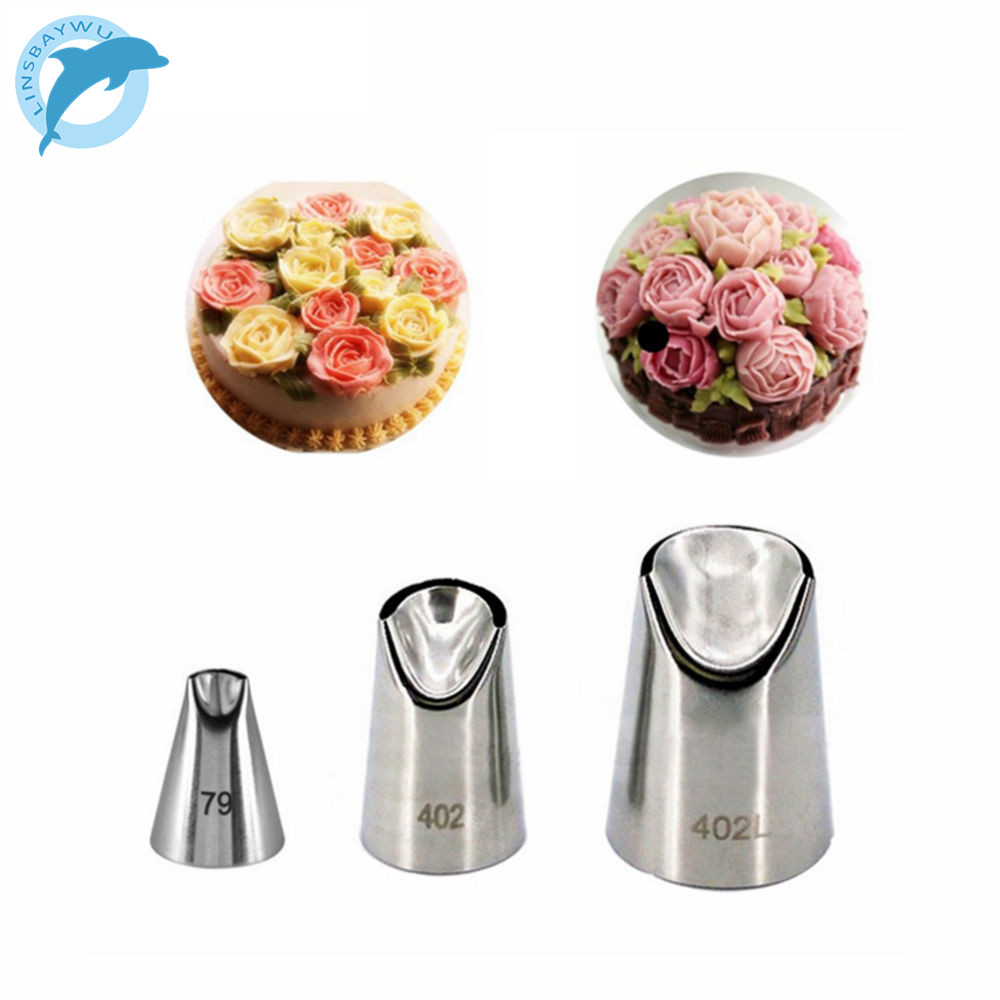 US $1.53 6% OFF|LINSBAYWU 3PCS/set Daisy Flower Cream Cakes Decorating Tips  Stainless Steel Icing Nozzles-in Decorating Tip Sets from Home & Garden on  ...