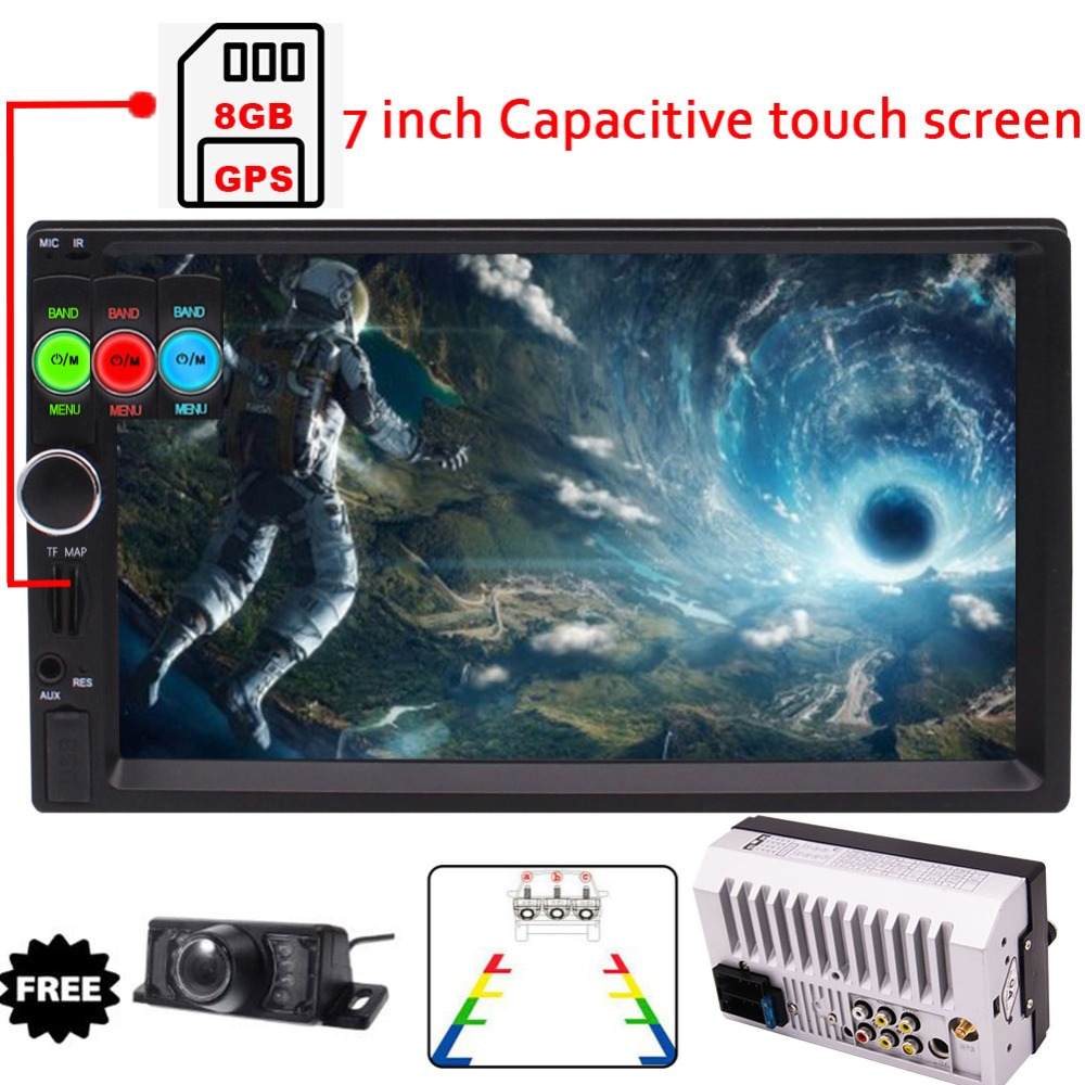 Car PC GPS Stereo MP5/MP4/MP3 Player FM Radio Car Audio Bluetooth Support GPS Navigation with Map Card Rear-View Camera Optional
