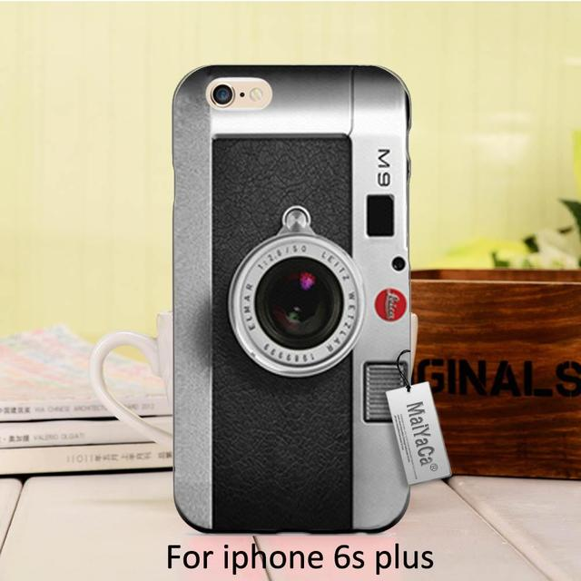 official photos e36b7 a425a US $1.7 32% OFF|MaiYaCa Retro Black Silver Vintage Camera Design Black Soft  Silicone Phone Case For iPhone 5 5s SE 6 6plus 7 8plus X XS XR Case-in ...