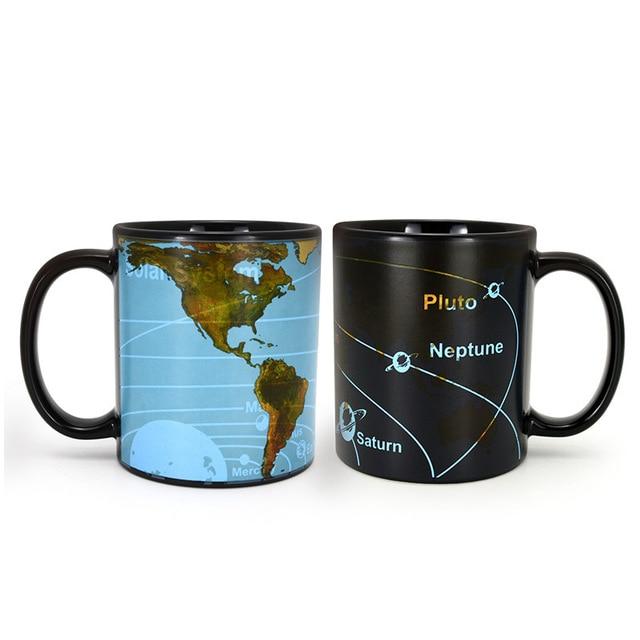 400ml Coffee Mugs Bone China World Map Constellation Mugs Creative