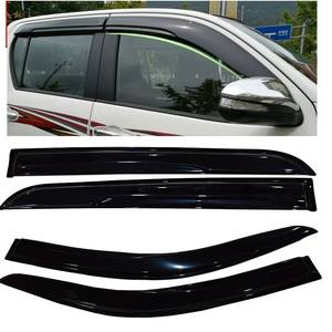 EXTRA adtional Car Wind Deflector Awnings Shelters For HILUX VIGO REVO Black Window Deflector Guard Rain Shield 2015-2017
