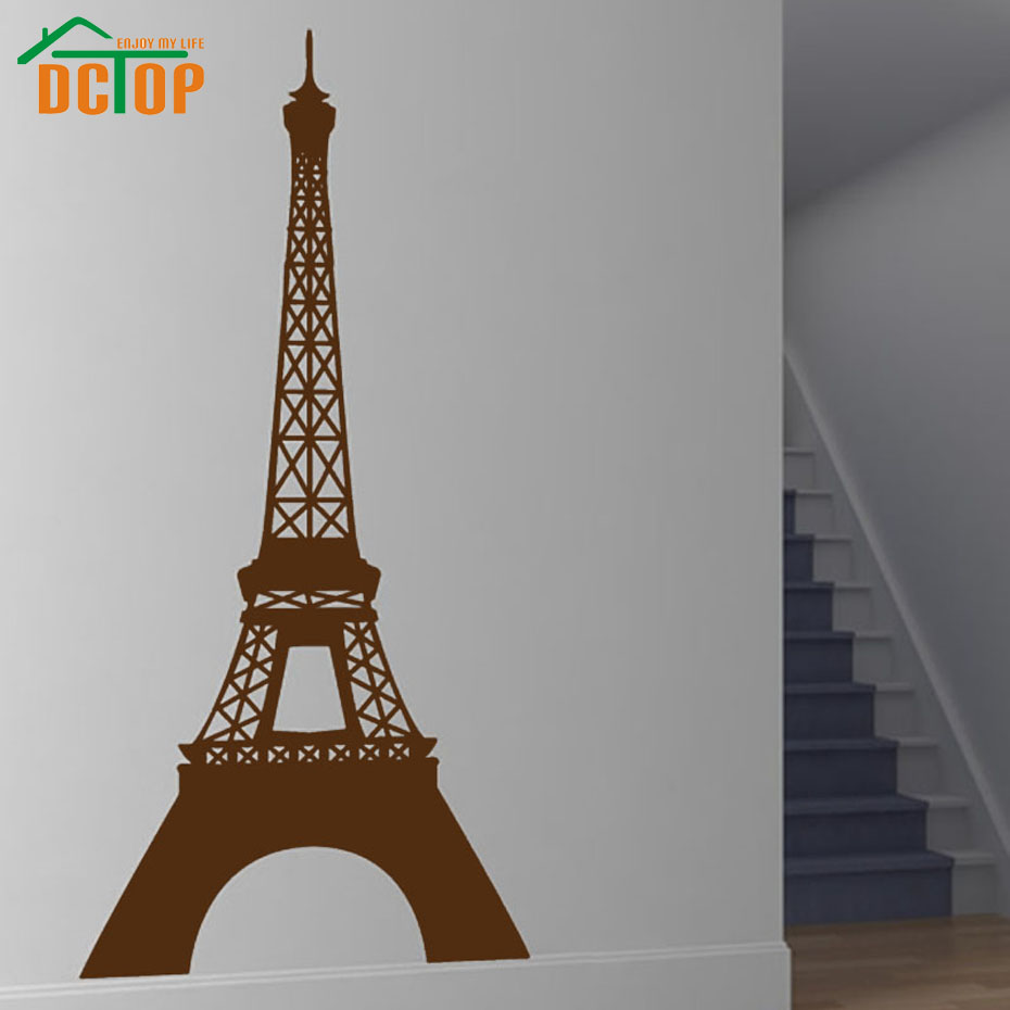 Dctop paris landmark eiffel tower wall sticker vinyl removable dctop paris landmark eiffel tower wall sticker vinyl removable home decor decals hollow out mural living room bedroom wallpaper in underwear from mother amipublicfo Images