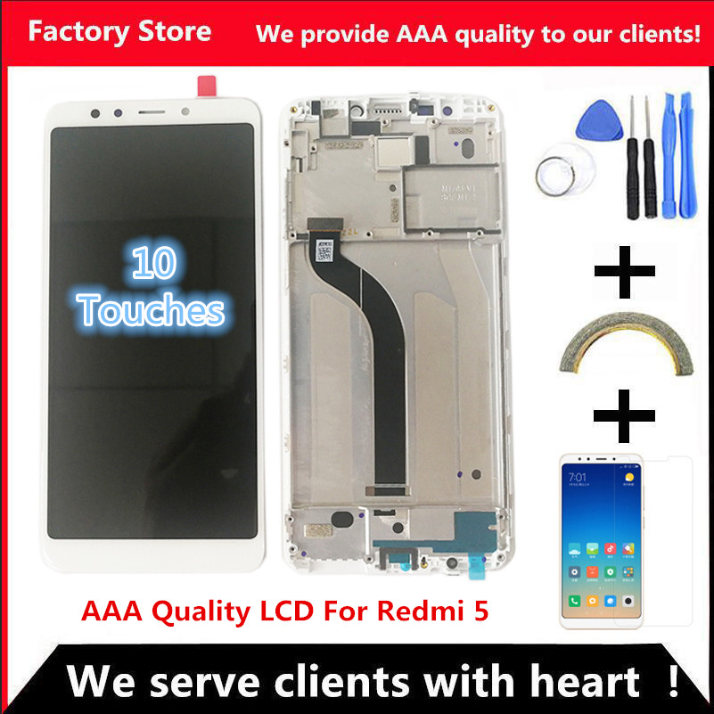 """5.7"""" AAA Quality IPS LCD+Frame For Xiaomi Redmi 5 LCD Display Screen Replacement For Redmi 5 LCD Assembly MDG1 MDTI MDI1(China)"""