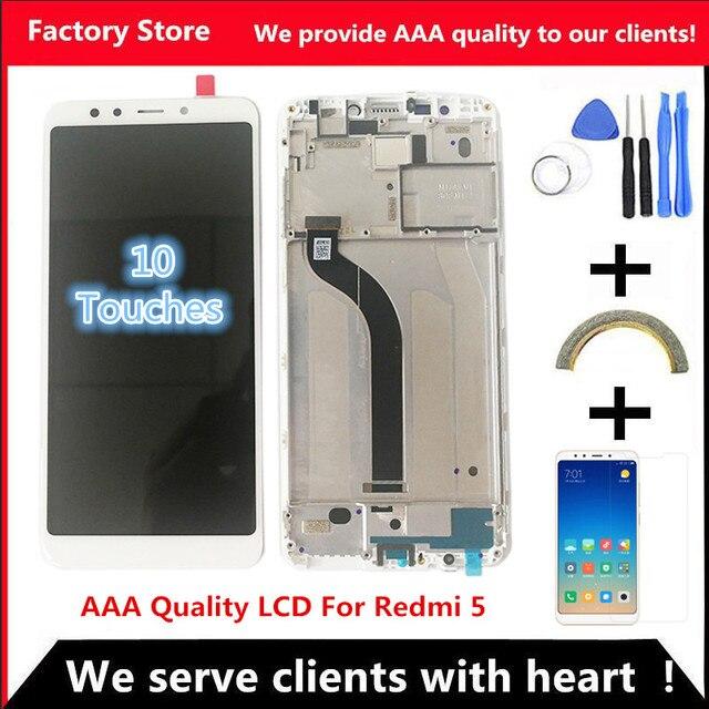"5,7 ""AAA calidad IPS LCD + marco para Xiaomi Redmi 5 LCD pantalla reemplazo para Redmi 5 LCD montaje MDG1 MDTI MDI1"